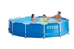 Photo Intex 12' x 30 Metal Frame Pool with Filter Pump
