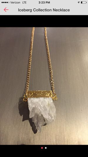 Druzy Crystal necklace for Sale in Boston, MA