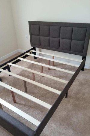 Brand New Queen Size Brown Linen Upholstered Platform Bed Frame for Sale in Arlington, VA