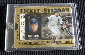 Derek Jeter 1997 Upper Deck TICKET TO STARDOM #TS5 Die-Cut Insert Card for Sale in Las Vegas, NV