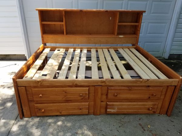 full size bed frame for sale in chesapeake va offerup. Black Bedroom Furniture Sets. Home Design Ideas