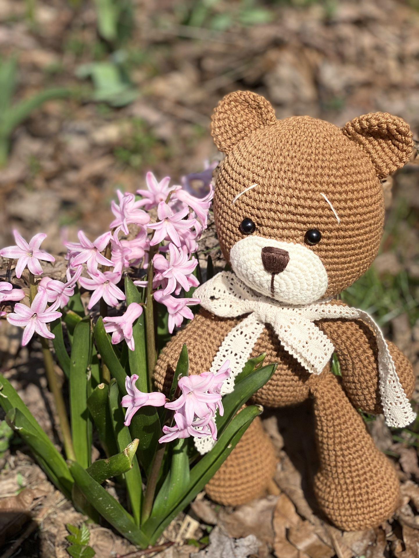 Crochet Teddy Bear Toy Handmade