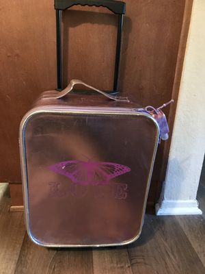 Girls purple metallic suitcase for Sale in Spring Valley, CA