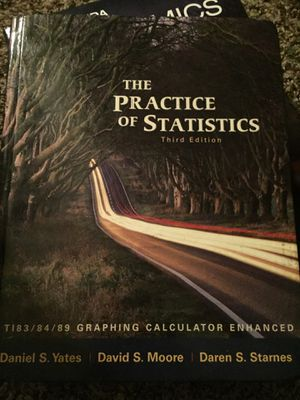 The practice of statistics 3rd editon for Sale in Tampa, FL