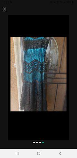 Black Turquoise Dress Thumbnail