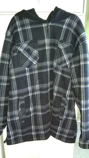 Men's flannel jacket 4xl hoodie black mens clothing for Sale in Norwalk, CA
