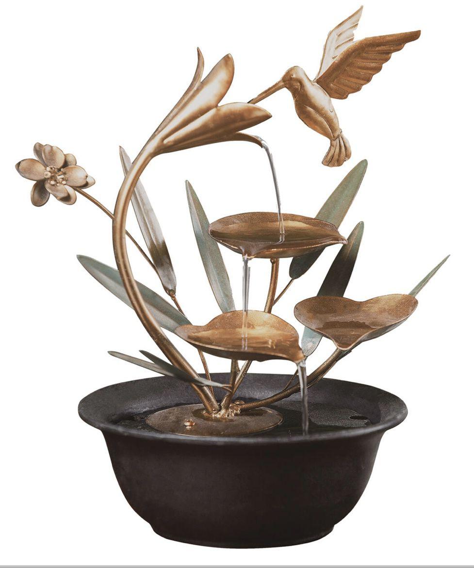 Metal Hummingbird Fountain