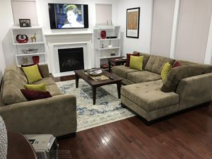 Large sectional with ottoman for Sale in Washington, DC