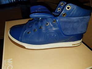Blue Michael kors sneakers size 6 for Sale in Fredericksburg, VA