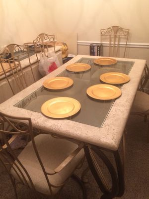 6 sitter custom dining set with china cabinet Must Pick up for Sale in St. Louis, MO
