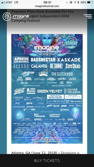 Imagine festival ticket for Sale in Atlanta, GA