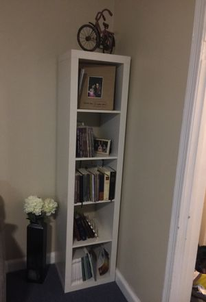 Two white beautiful (ikea) bookshelves for Sale in Bethesda, MD
