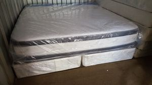 New King Size Pillowtop Mattress + Box Spring for Sale in Silver Spring, MD