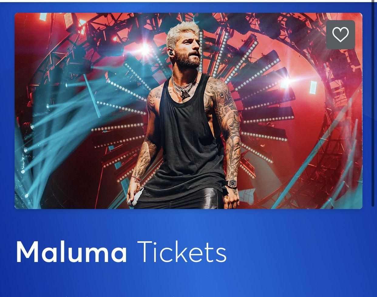 5 Maluma Tickets
