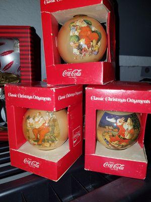 3 Vintage Coca- Cola Collectible Ornaments for Sale in Tampa, FL