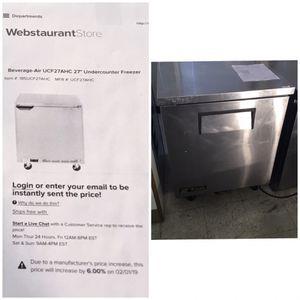 Under counter freezer for Sale in Manassas Park, VA