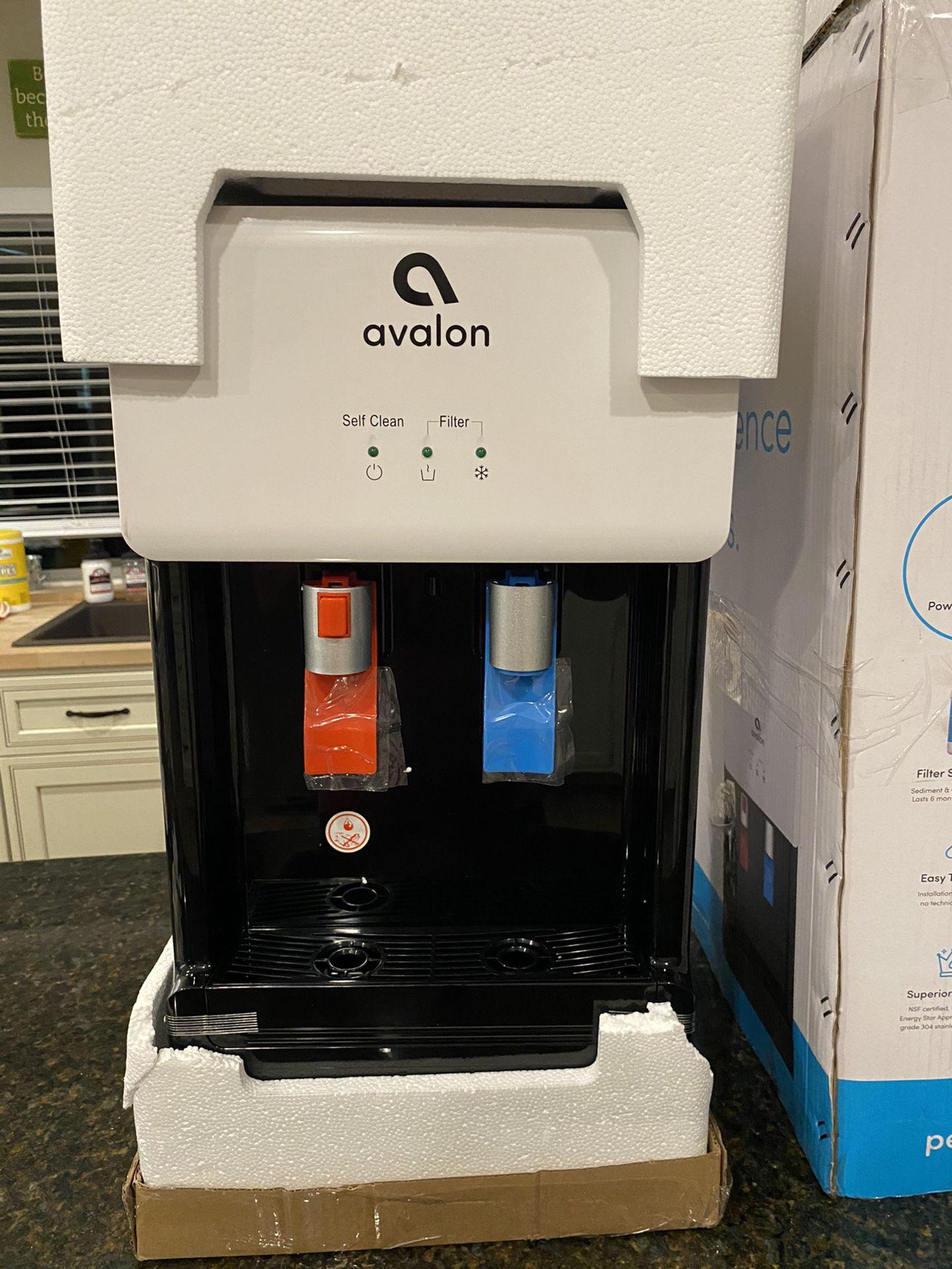 Avalon A8CTBOTTLELESSWHT Countertop Self Cleaning Touchless Bottleless Cooler Dispen...