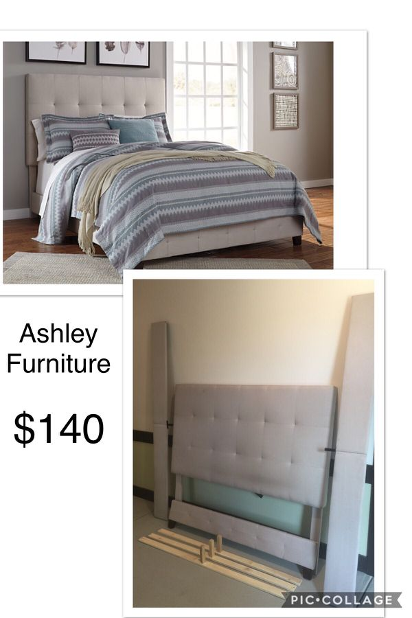 Beautiful Ashley Furniture Tufted Queen Size Bed Frame Good Condition In Austin Tx Offerup