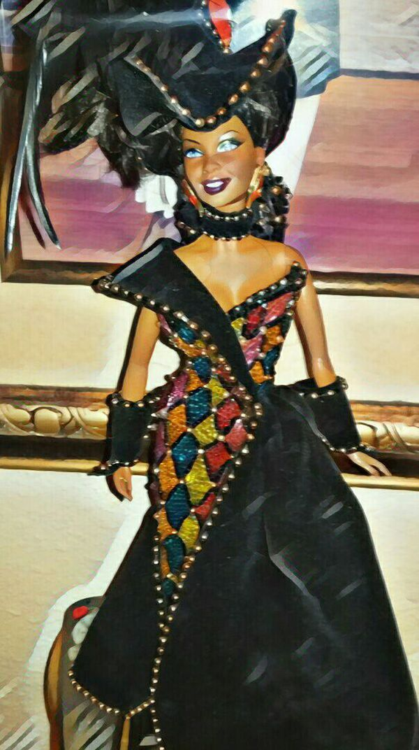 One of a kind African American Barbie doll dressed in Bob Mackie ...