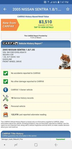 2005 Nissan Sentra Thumbnail