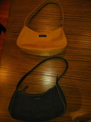 2 small Guess purses excellent condition one denim one beige 20 for both for Sale in Pittsburgh, PA