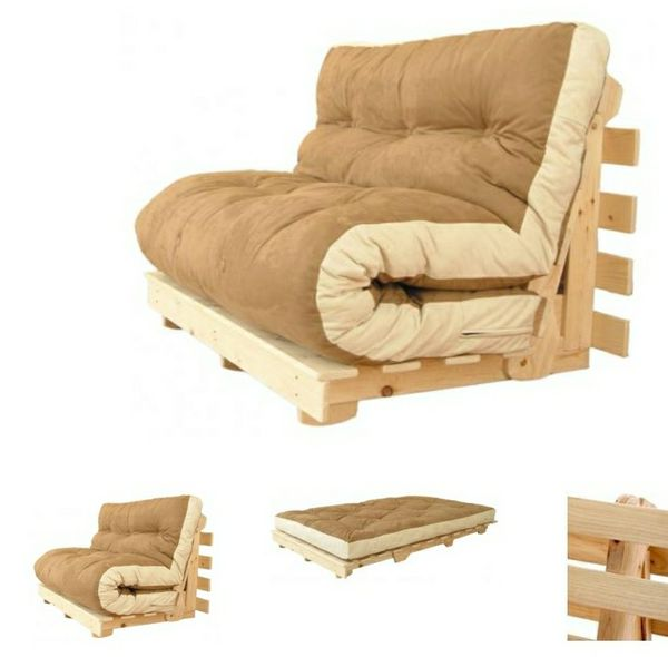 Compact Futon Couch Bed Sofa Lounger Frame For In Kaneohe Hi Offerup