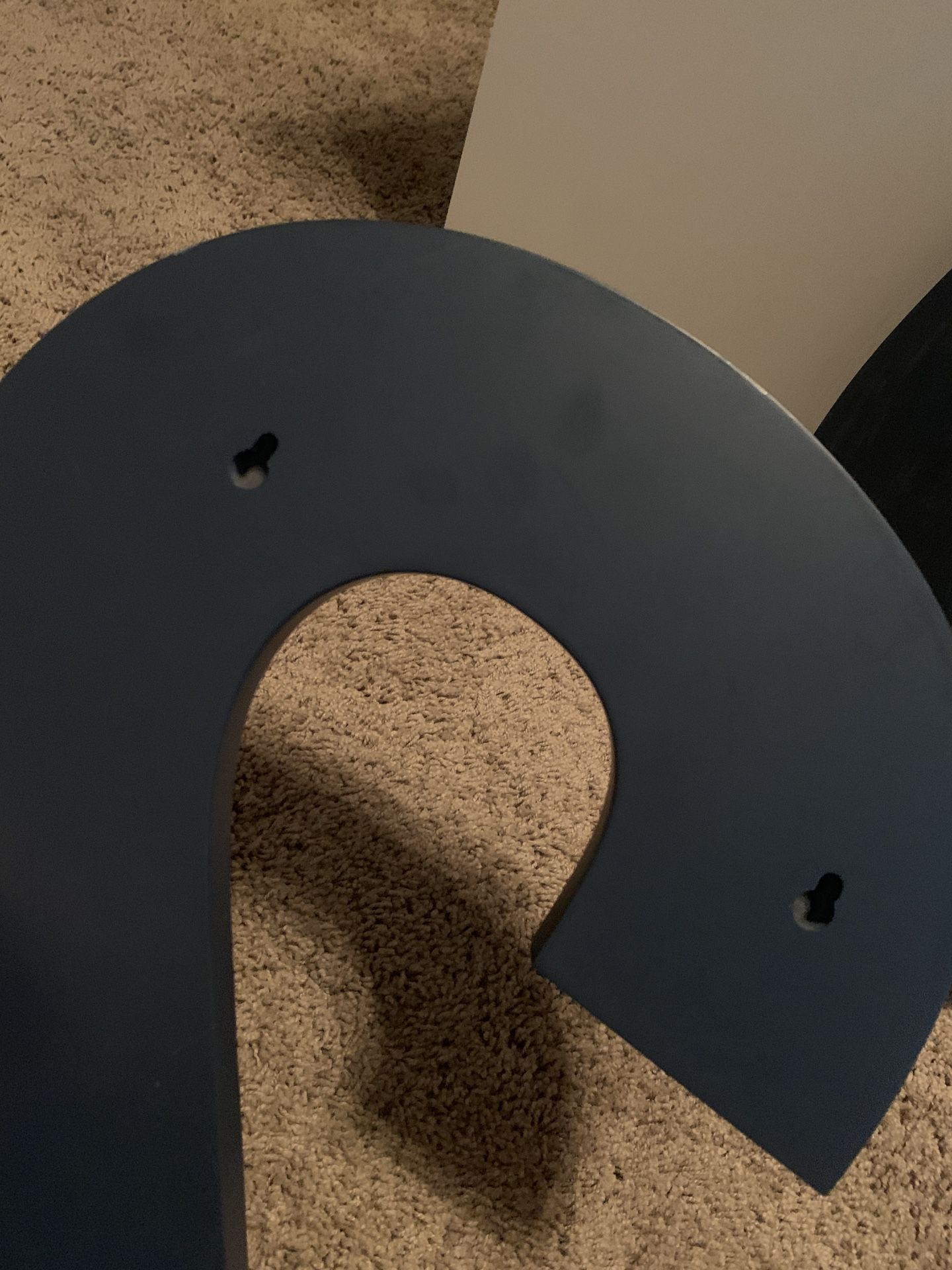 """Pottery Barn navy blue """"2"""" and """"0"""", super cute wall hangings"""