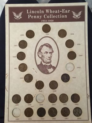 Photo Lincoln wheat ear collection (not for sale)
