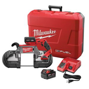 Milwaukee M18 FUEL 18-Volt Lithium-Ion Brushless Cordless Deep Cut Band Saw W/(2) 5.0Ah Batteries, Charger, Hard Case for Sale in Orlando, FL
