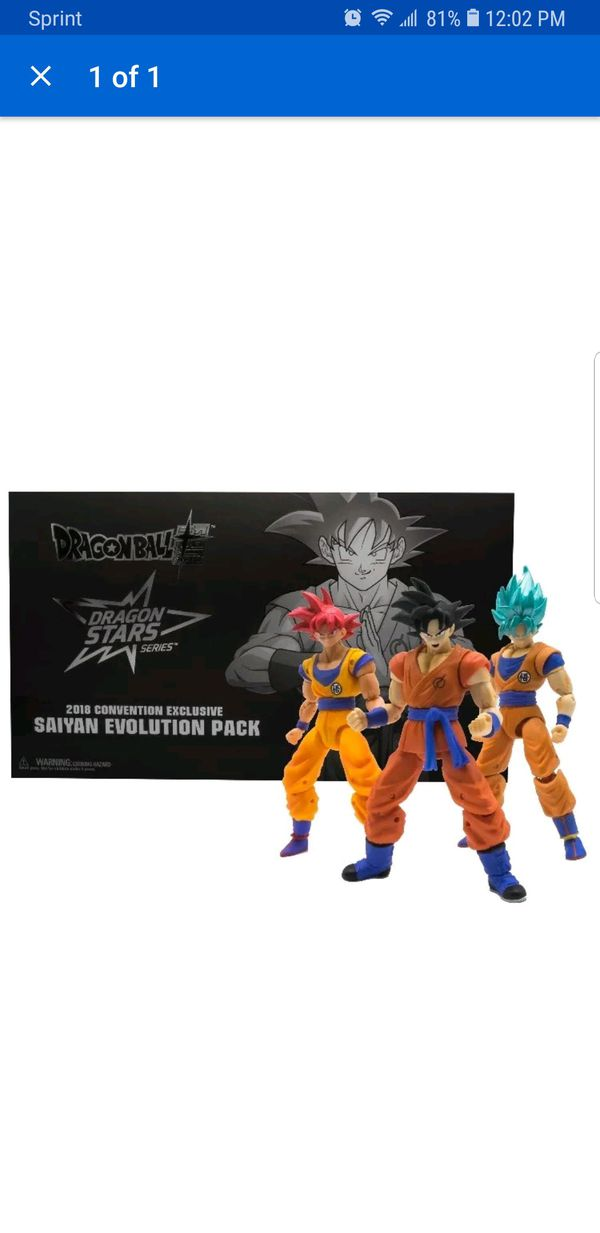Bandai Dragon Ball Super Z Star Series Saiyan Evolution Pack Goku Sdcc 2018 For Sale In San Diego Ca Offerup