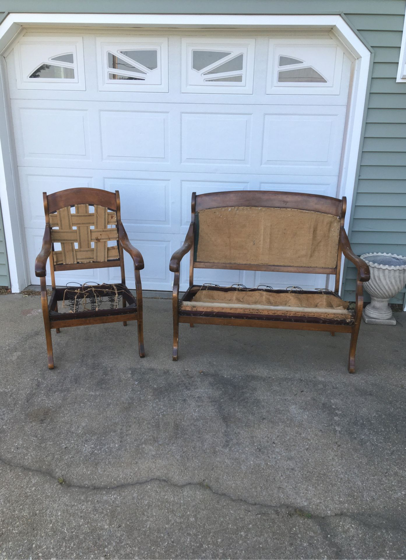 Vintage bench and chair