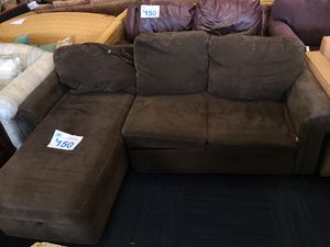 Small Brown Microfiber sectional couch for Sale in Chesterfield, VA