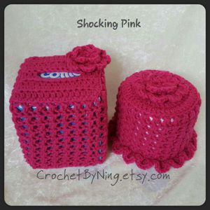 Crochet Tissue box & Toilet paper cover for Sale in Charles Town, WV