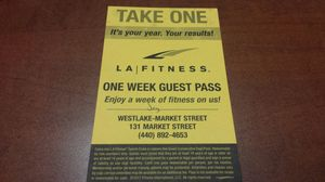 LA Fitness Guest Passes!!! for Sale in Cleveland, OH