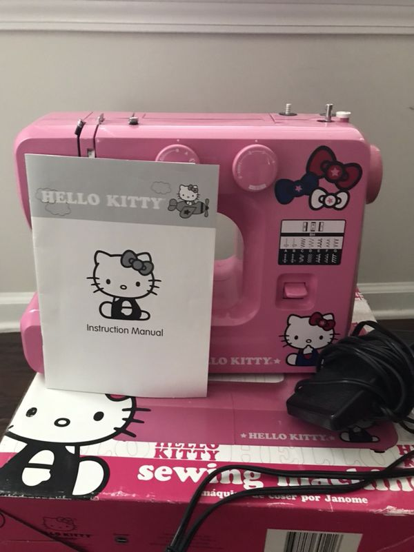 Janome Hello Kitty Sewing Machine For Sale In Cary NC OfferUp Inspiration Hello Kitty Sewing Machine Instruction Manual