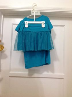 Girls set skirt t -shirt size ( 8 ) Thumbnail