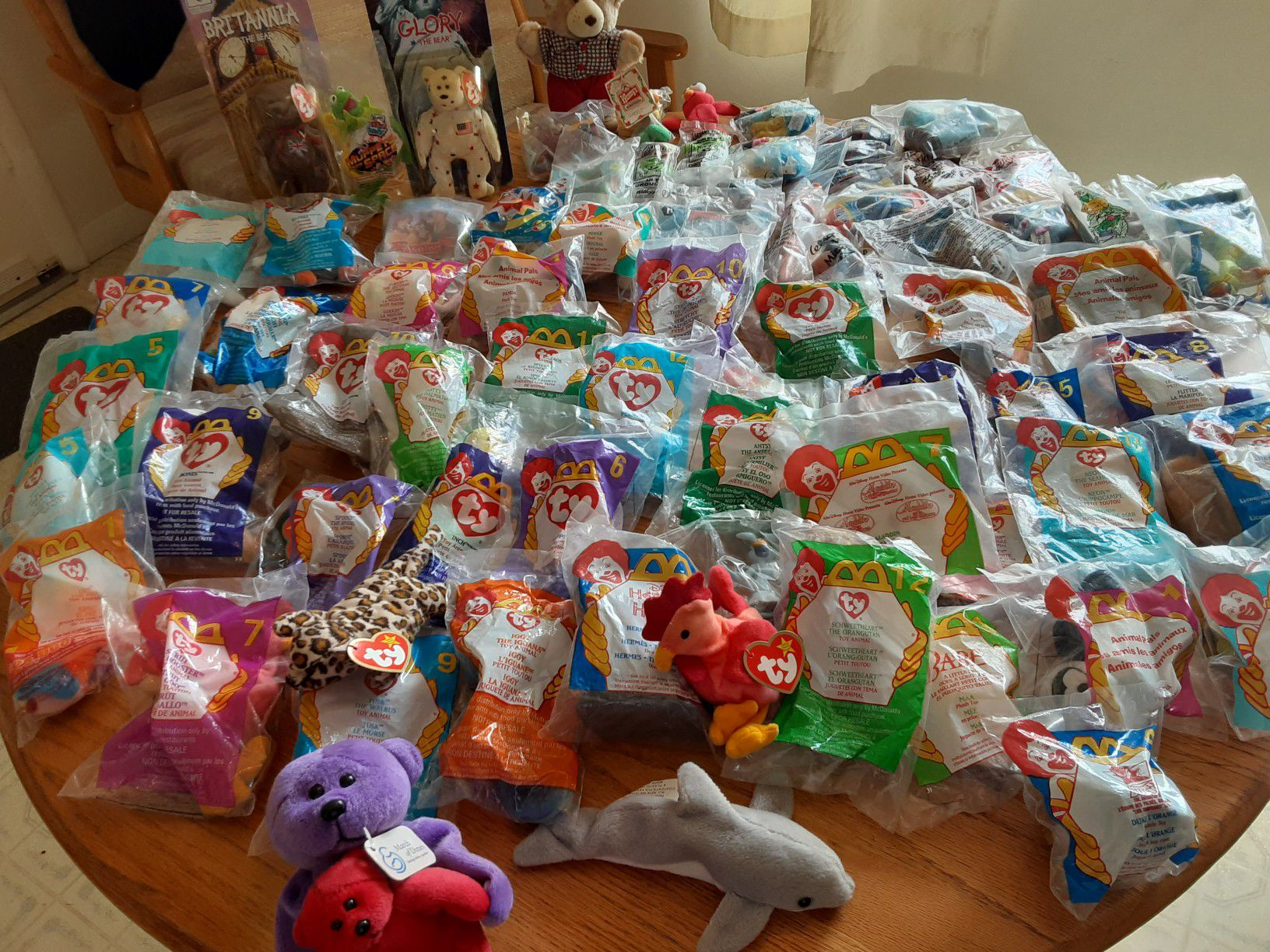 McDonald's Ty beanie babys Kellogg's toys