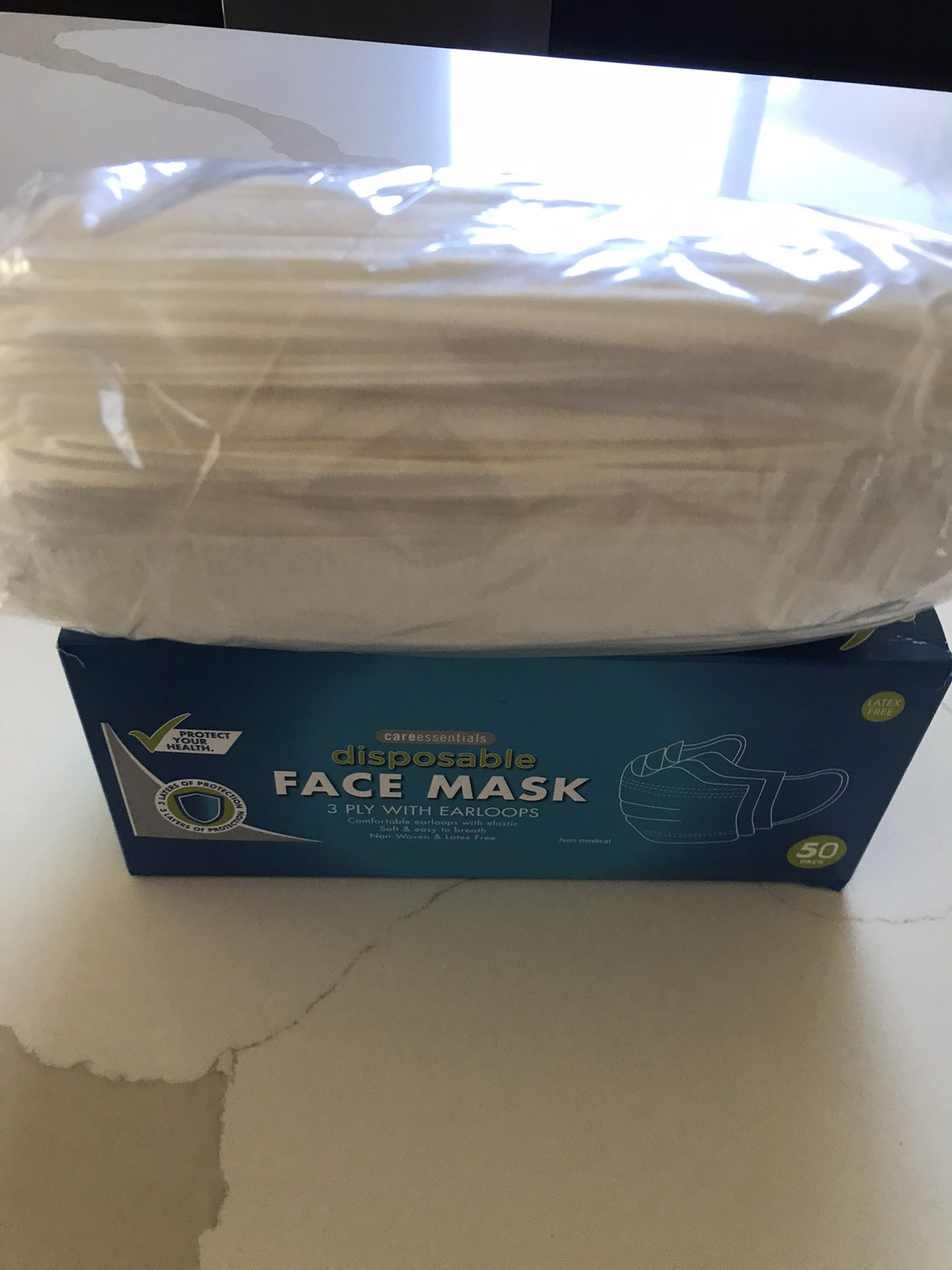 White Face Mask. 3 Layers  $5