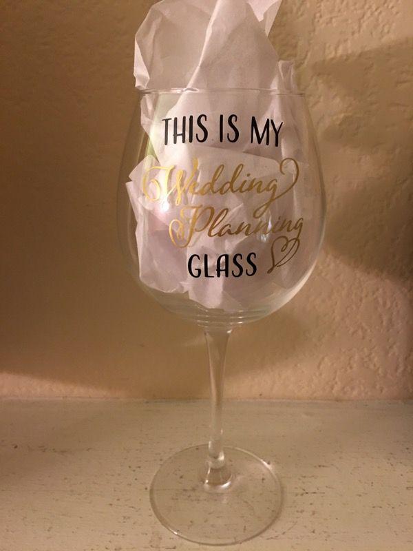 Wedding planning glass