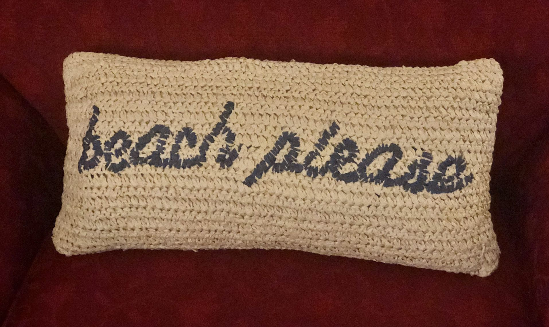 Beach Pillow With Zipper