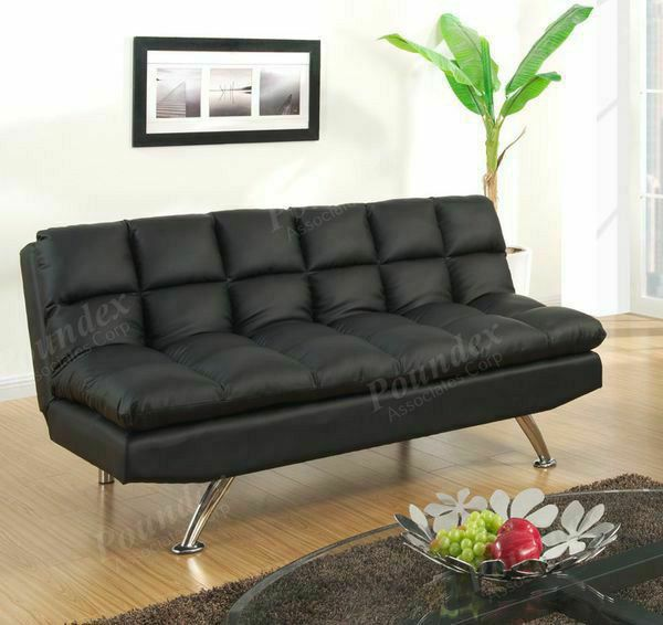 Black Pillow Top Couch Sofa Futon Bed For In Los Angeles Ca Offerup
