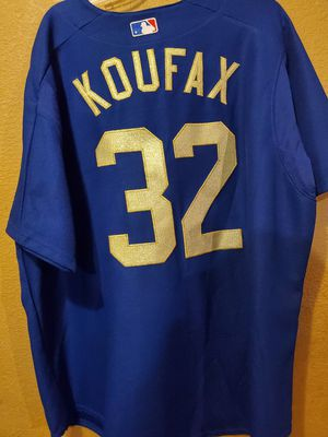Photo DODGERS AUTHENTIC #32 SANDY KOUFAX GOLD STITCHED HIGH QUALITY SIZE 2XL