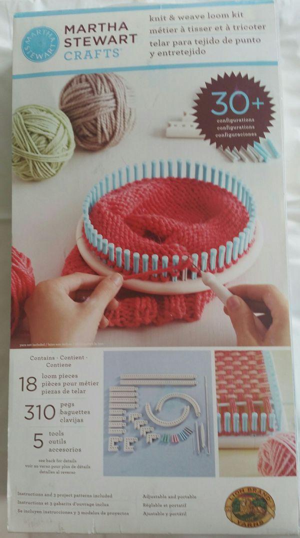 Martha Stewart Crafts Knit Weave Loom Kit For Sale In Lexington