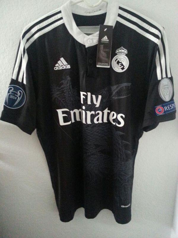 premium selection b9f7d 43b7e Cristiano Ronaldo #7 Real Madrid Black Dragon Champions League Jersey  Soccer Men Adidas for Sale in Miami, FL - OfferUp