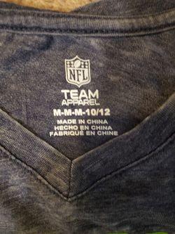 Girls Seahawks V-neck shirt Thumbnail