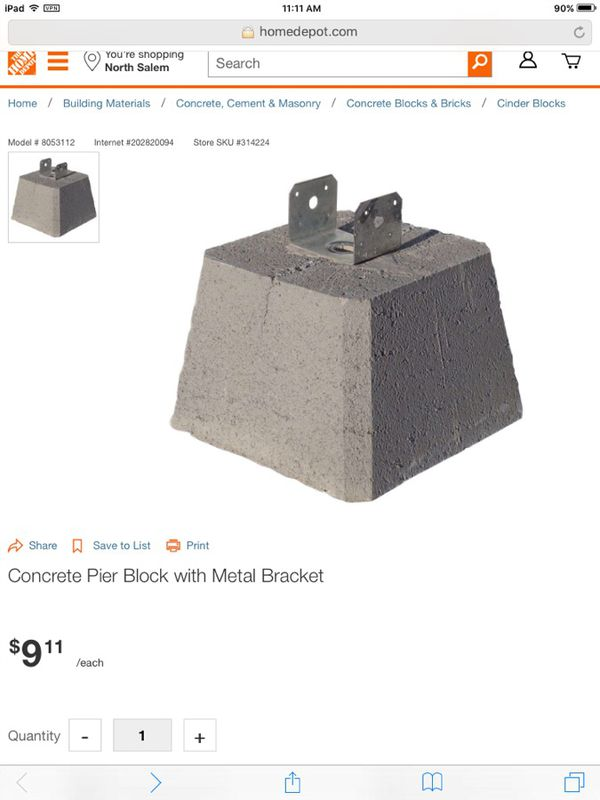 Concrete pier block WITHOUT METAL BRACKET for Sale in Turner, OR - OfferUp