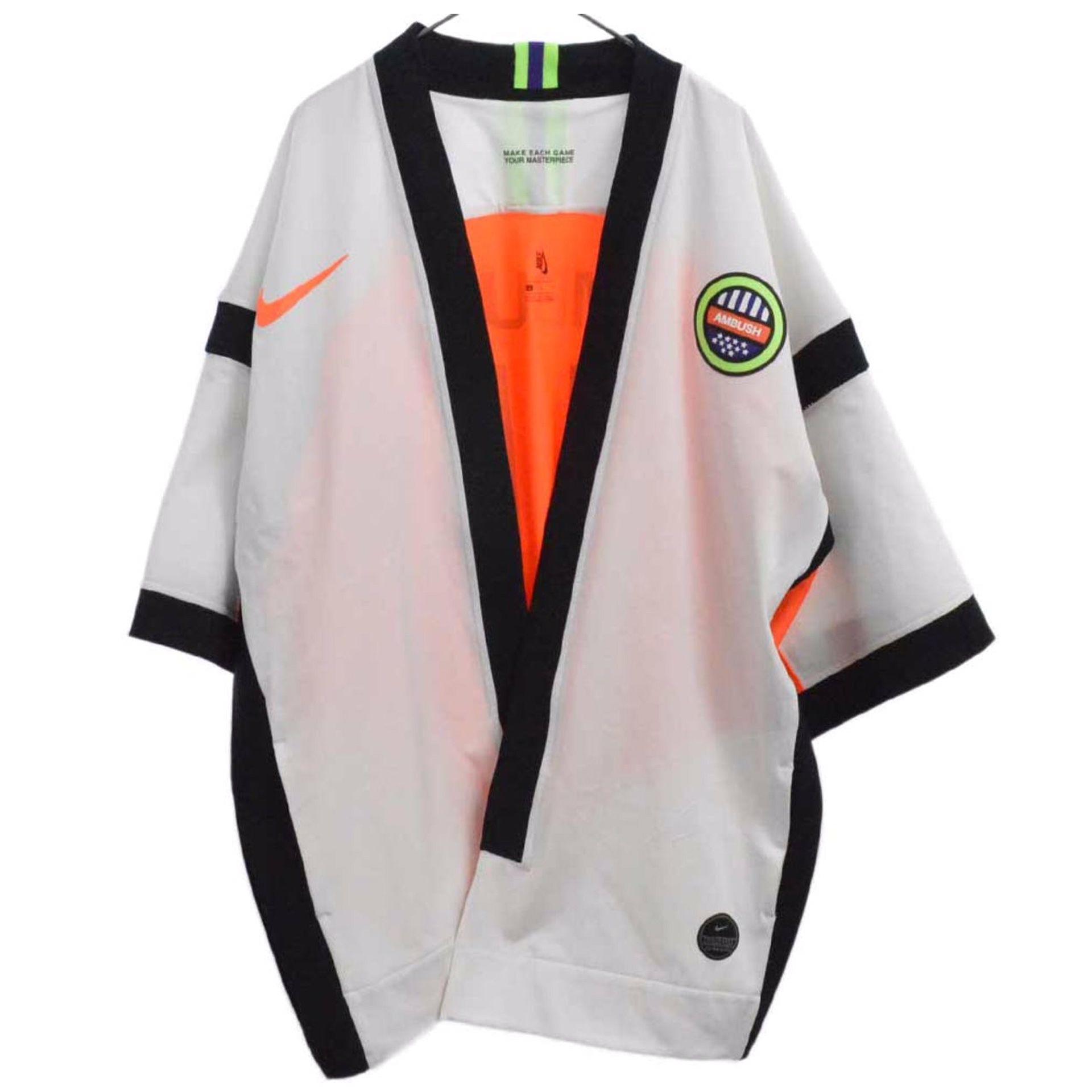 Nike x Ambush Top Numbering Jacket White/ Orange