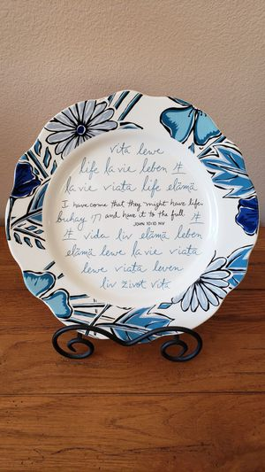 "12"" scripture plate for Sale in Murrieta, CA"