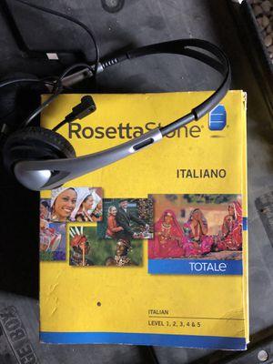 Rosetta Stone Italian for Sale in San Diego, CA