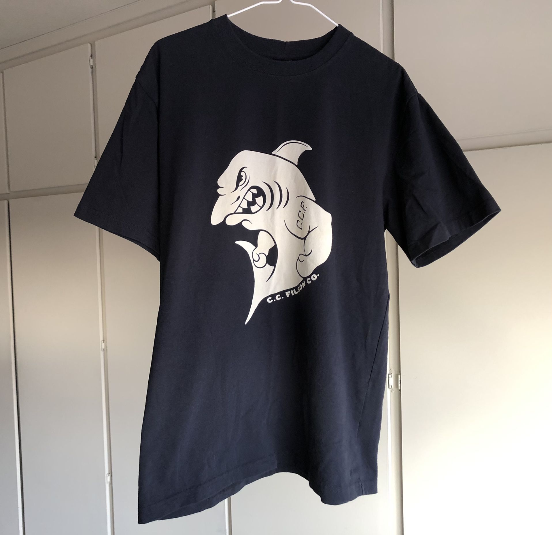 Filson C.C.F. Shark graphic shirt CCF Seattle Ballard Store printed excellent durable quality garment heritage an American Tradition graphic t-shirt u
